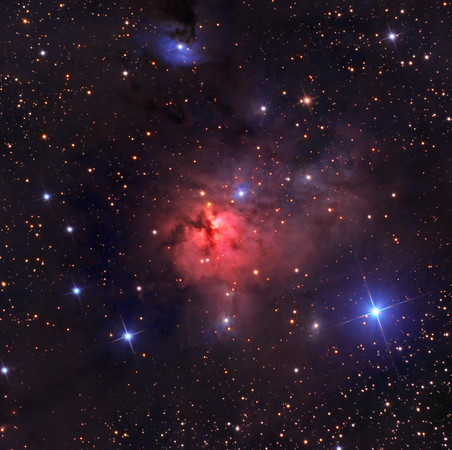"""NGC 1579 NewMexicoSkies Remote Sept/Oct 2013 RCOS 16"""" ion milled Apogee Aspen CG16M AP1600 LRGB (4,3,2,2hrs)"""