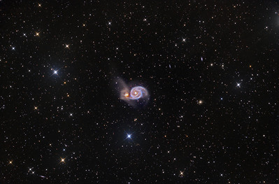 M51 The Whirlpool Galaxy ASA N10 15X1200sec -35C FLI Microline 11002 OSC March 2013 NMSkies Remote